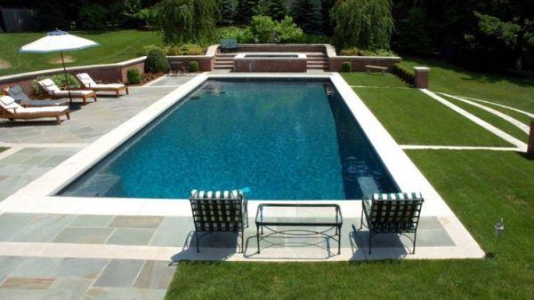 piscine en rectangle